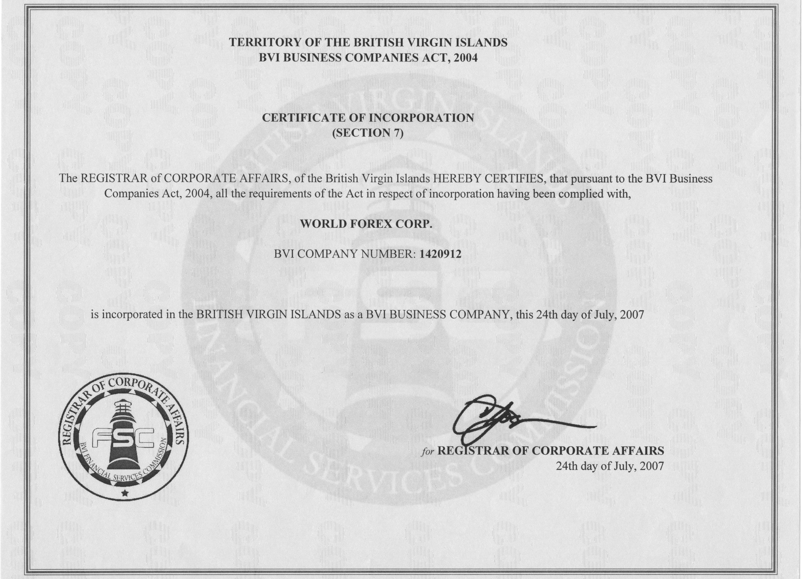 Bvi forex license