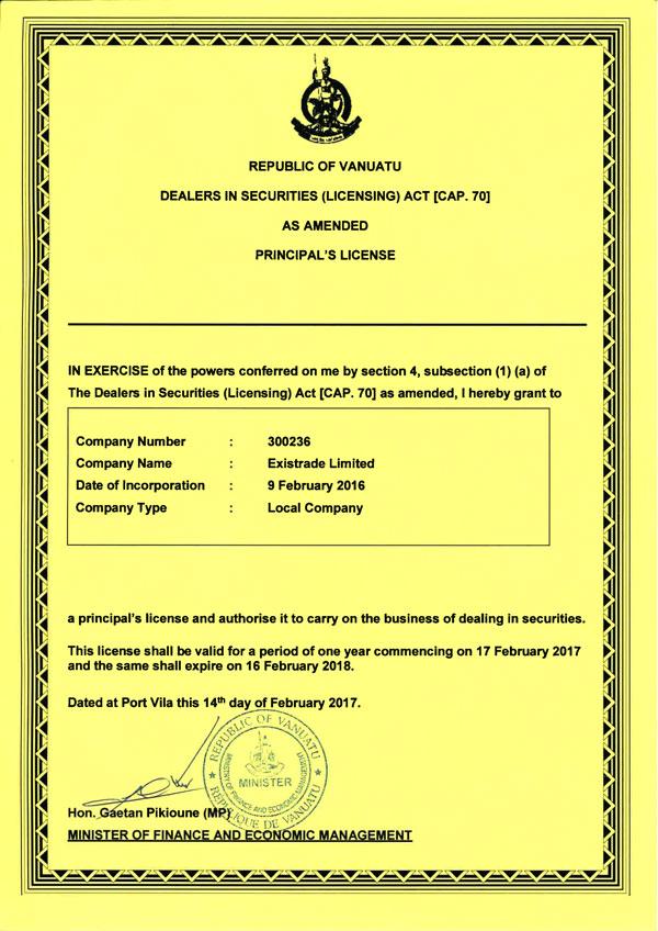 Forex broker license